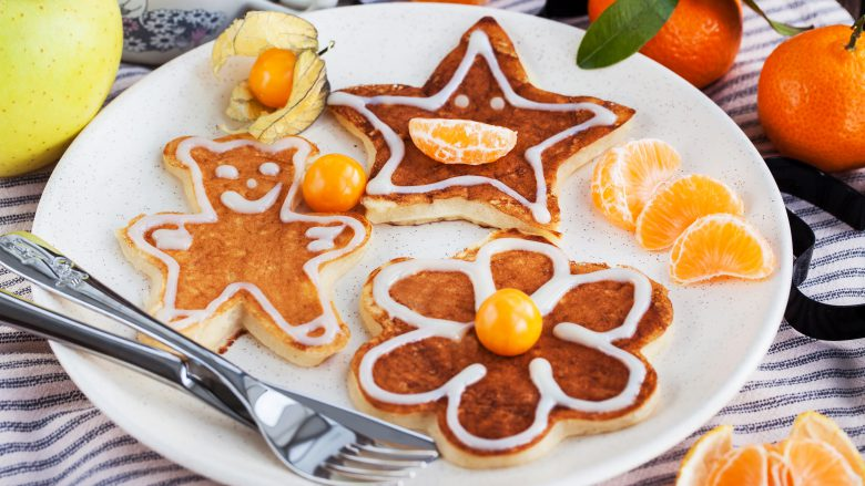 Funny Children's Pancakes For Breakfast